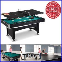6 Feet Arcade Billiard Table Pool Indoor Games With Table Tennis Top Accessory Ki
