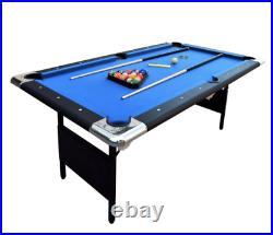 6-Ft Portable Durable Pool Table Indoor Billiards Hathaway Fairmont, Blue/Black