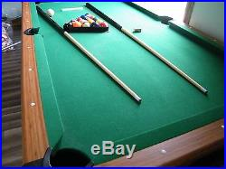 6 ft Slate Pool Table Wood Finish (LOCAL PICK UP)