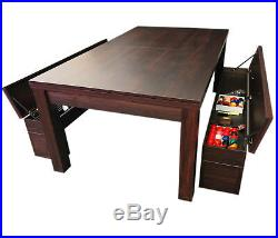 7Ft Pool Table Billiard Green became a dinner table with benches m. Rich Green
