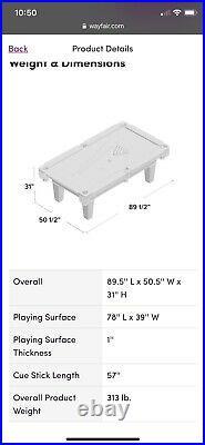 7.5 Ft Brunswick Contender Series Pool Table