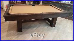 7 & 8 ft Dining Reno Slate Pool Table with Rustic Antique Walnut Finish