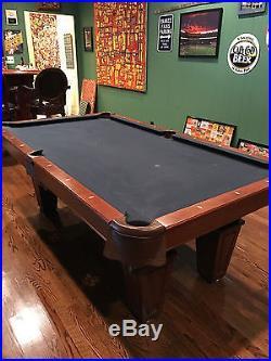 7' Brunswick Allenton Chestnut Pool Table The Game Room Store Nj 07004