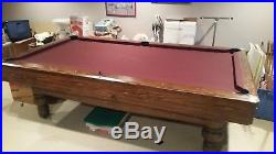 7 Billiard Pool Table with Cue Rack and Accessories Brunswick Ohio Pick Up Only