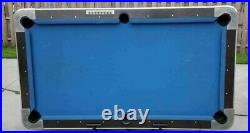 7' Dynamo (92) Light Oak Coin-op Pool Table With Blue Cloth