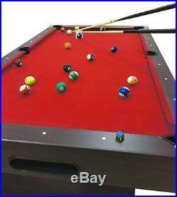 7' Feet Billiard Pool Table Snooker Full Set Accessories Game mod. Red Devil