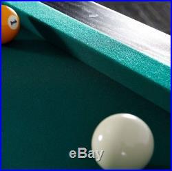 7 Foot Bar Size Pool Table Billiard Tables Balls 2 Cues Plus Dartboard Set Black