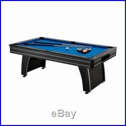 7 Foot Pool Table Billiard Cues Triangle Chalk Balls Man Cave Billiards Sticks
