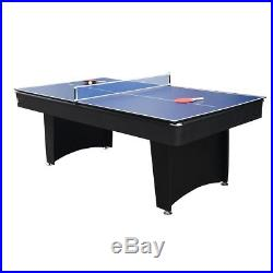 7 Ft Pool Table Game Room Billiards WithTable Tennis Top All Accessories Included