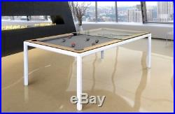 7' Modern Convertible Pool Billiard Table'Ultra' dining/desk/game fusion table