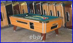 7' VALLEY COIN-OP POOL TABLE MODEL ZD7 With GREEN CLOTH ALSO AVAIL IN 6 1/2', 8