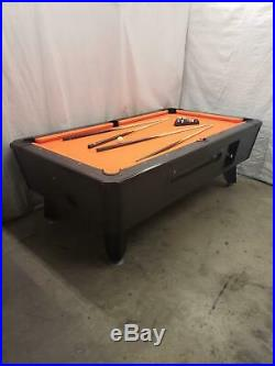 7' VALLEY COMMERCIAL COIN-OP POOL TABLE MODEL Black Kat NEW Orange CLOTH