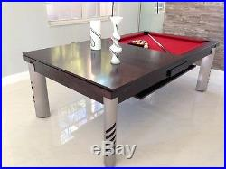 7' VISION CONVERTIBLE POOL BILLIARD TABLE dining / office fusion MIRAGE