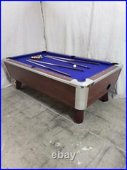 7' Valley Coin-op Table Model Zd4- New Purple Cloth, Also Avail In 6 1/2', 8