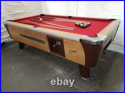 7' Valley Commercial Coin-op Pool Table Model Bar Size New Red Cloth