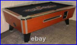 7' Valley Commercial Coin-op Pool Table Model Zd4- New Purple Cloth
