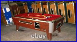 7' Valley Commercial Coin-op Pool Table Model Zd-4 New Red Cloth