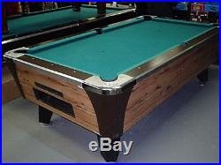 7 ft Arcade Pool Table Set on Free Play Come and Get it