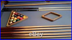7 ft Brunswick Billards Table with Ball and Claw Legs