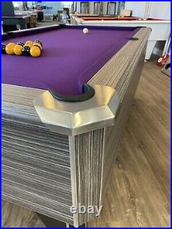 7ft FMF Tournament Pro Black Pub Style Slate Bed Pool Table Fast Delivery