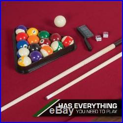 87 Pool Table Billiard Set Light Cues Balls Chalk Triangle Brush-LIMITED STOCKS