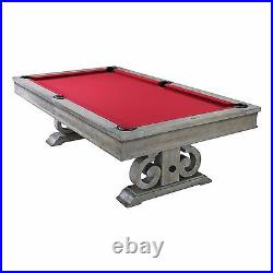 8' Barnstable Slate Pool Table with Weathered Oak Finish Dining Top Included