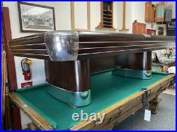 8' Brunswick Anniversary Antique Pool Table Circa 1950s
