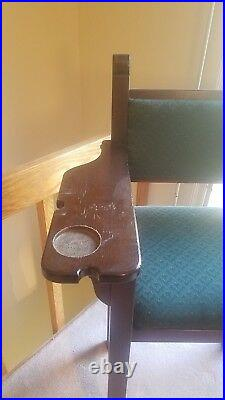8' Custom Claw Leg Pool Table with Bonus Cue Rack, Chairs, Light, & Table Mat