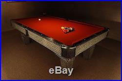 8' Custom Metal Diamond Plate Olhausen Pool Table