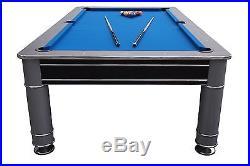 8 FOOT POOL TABLE in BLACK & SILVER THE COSMOPOLITAN by BERNER BILLIARDS