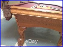 8 FT. Slate Pool Table Silverthorne Furniture / Belvidere Oak PRICED TO SELL