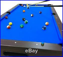 8' Feet Billiard Pool Table Snooker Full Accessories Game BELLAGIO Blue 8FT