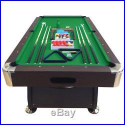 8' Feet Billiard Pool Table Snooker Full Set Accessories Game Vintage Green 8FT