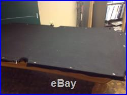 8' Foot Slate Pool Table / 3pc 1 Slate / Maple Hardwood EXCELLENT CONDITION