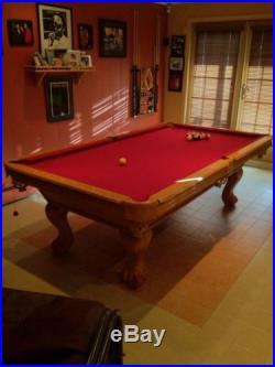 8' Great American Oak Pool Table