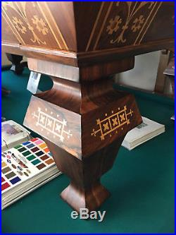 8' H. W. Collender Popular Antique Pool Table