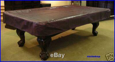8' Mahogany Real Naugahyde Pool Table Cover FREE SHIP