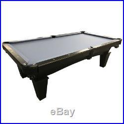 8' Mustang Pool Billiards Table Black Onyx