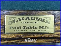 8' OLHAUSEN 3/4 SLATE POOL TABLE