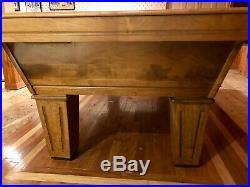 8' Olhausen Solid Oak Slate Top Pool Table