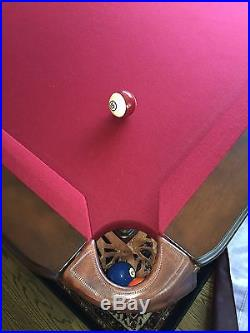 8' Orleans Slate Pool Table and many Accessories