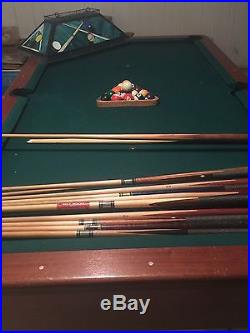 8' Pool Table with Solid Wood Finish