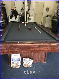 8 Pro Slate Pool Table With 10 Q Sticks and Q Rack Table Brush