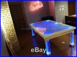 8' VISION CONVERTIBLE POOL BILLIARD TABLE dining / pool fusion MONACO