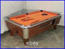 8' Valley Coin-op Pool Table Model Zd-6 New Black Cloth Also Avail In 6 1/2', 7