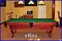 8' Victorian Style Slate Pool Table