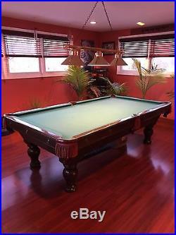 8 foot 3 piece slate pool table