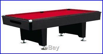 8 foot BLACK SHADOW KNIGHT BILLIARD POOL TABLE by BERNER BILLIARDS ~ BRAND NEW