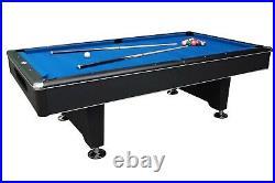 8 foot BLACK SHADOW SLATE BILLIARD POOL TABLE by BERNER BILLIARDS -MAN CAVE- NEW
