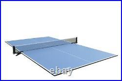 8 foot BLACK SHADOW SLATE BILLIARD POOL TABLE by BERNER BILLIARDS +PING PONG TOP